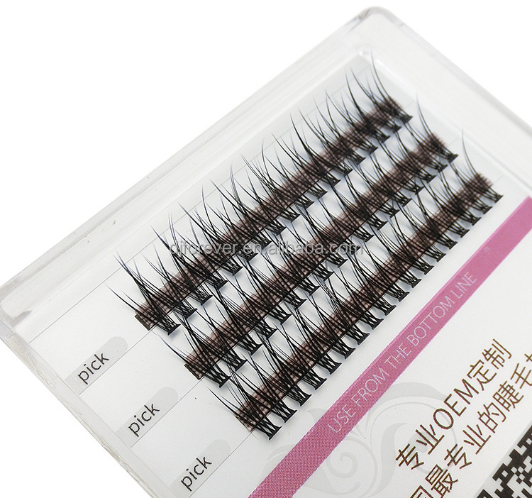 <strong>120</strong> Knobs Per Sheet Synthetic Fiber Lash Pre-made Eyelashes
