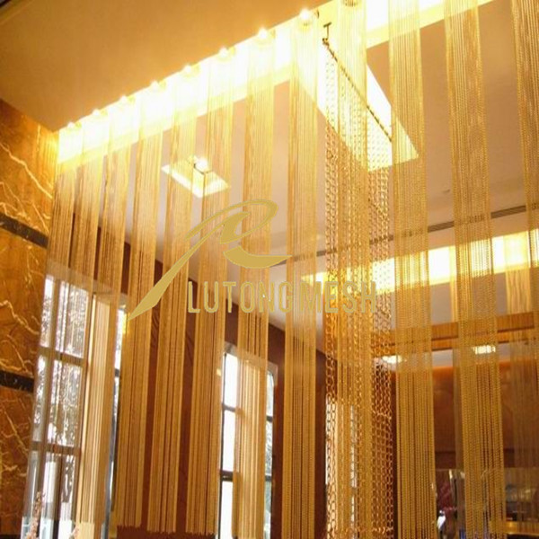 Decoration beads strings/Hanging room dividers metal bead curtain