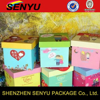 Bottom and Lid Apple Box Paper Gift Boxes for Packaging