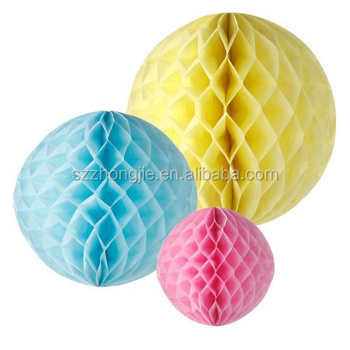 colorful tissue paper honeycomb ball decoration