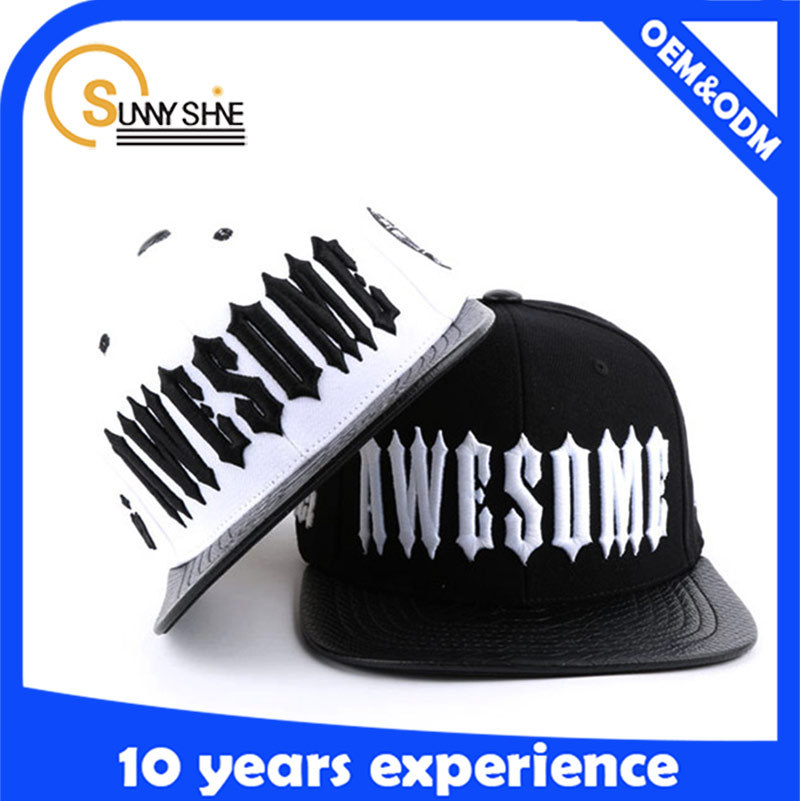Customize fashion 3D Embroidery Black Snapback Caps High Quality Caps And Hats