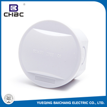 CHBC 80x50mm Size Round Type 4 Hole Qty ABS Plastic Waterproof Electrical Box