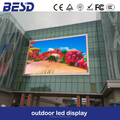 Building or pole standing full color outdoor p10 led display tv panel