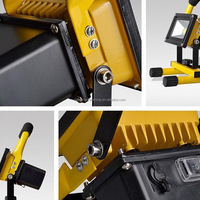 Waterproof outdoor ip54 portable rechargeable led flood light 10W 20W 30W 50W Rechargeable emergency Floodlight