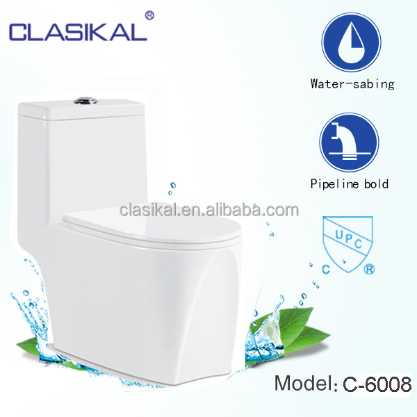 Sanitray ware factory directly upc ceramic one piece toilet