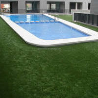 Swimming Pools Artificial Green Grass Carpet