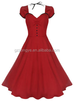 vintage jive dress rockabilly dress sexy swing maxi dress for ladies