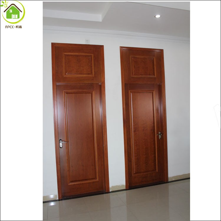 White Color Simple Design Fireproof Interior Door Wood