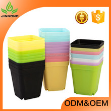 Hot sale growing systems indoor mini colorful decoration potted and plant plastic flower pot