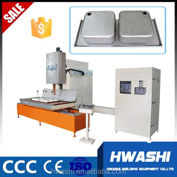 HWASHI Used Kitchen Stainless Steel Single Bowl Sink Seam Welding Machine