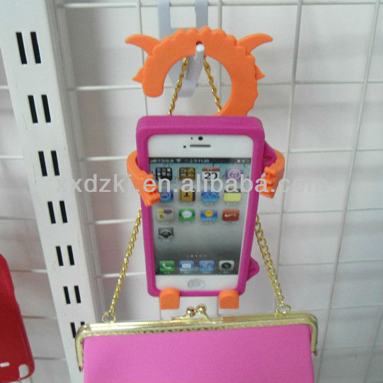 eco-friendly silicone cell phone stand for mobile with OEM/ODM sevice