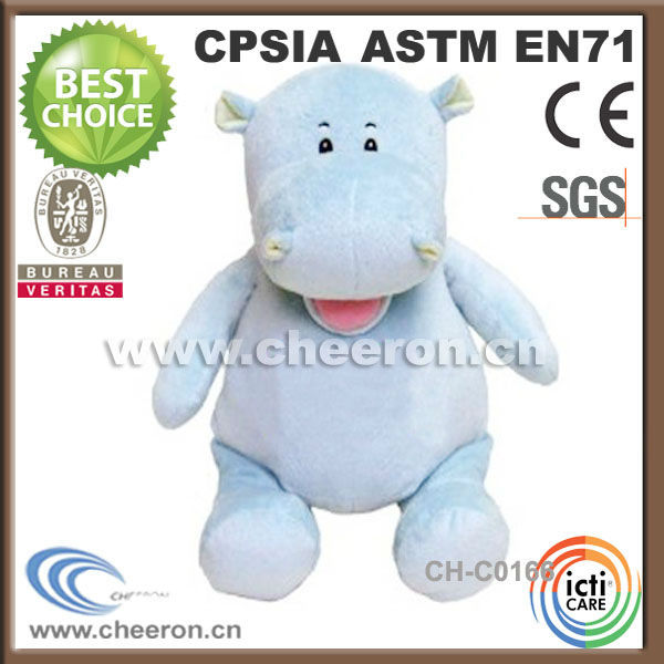 Creative Love Animal Plush Toys Green Hippo For Crane Machines