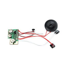 Customized push button pre-recorded sound chip for greeting card
