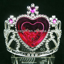 plastic flashing led crown for valentine