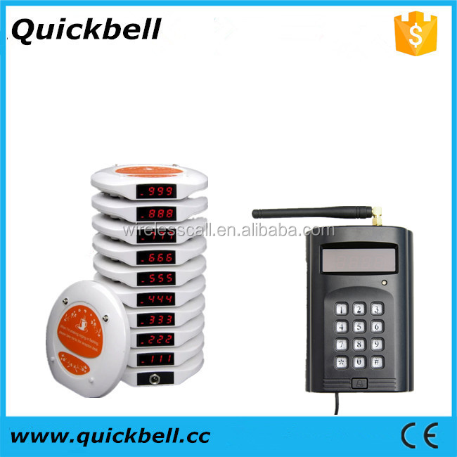 Wireless queuing pager system,waiter calling system ,restaurant wireless coaster pager