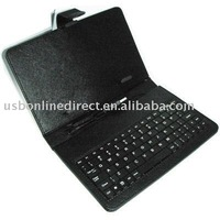 "Leather Case Cover With keyboard for Tablet pc(7"")"