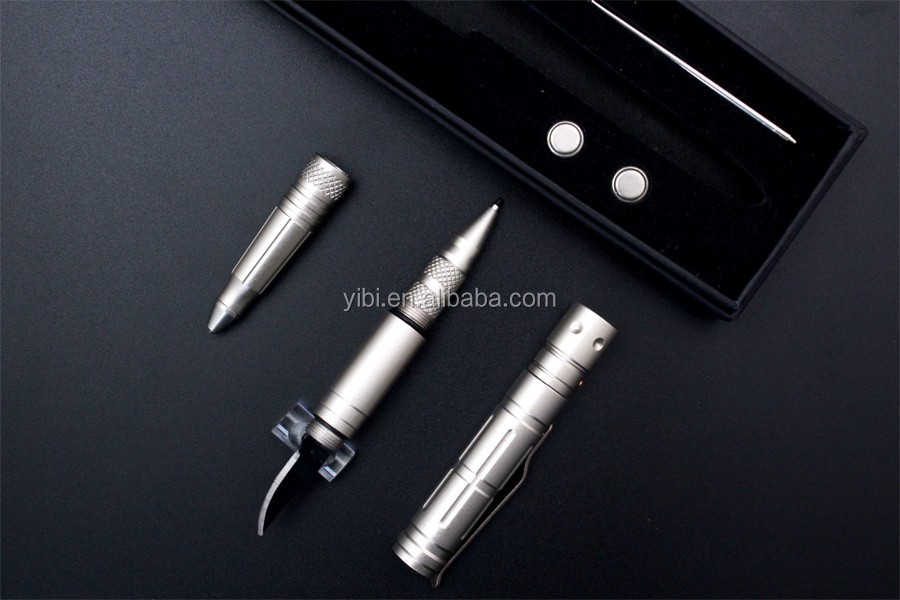 Wholesale Aluminum Writing Ballpoint Tactical Pen Self Defense With Emergency Hammer, Women Outdoor Self Defensive Tactical Pen