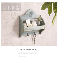 Wooden Wall Hanging Shelf Goods Convenient Rack Storage Holder Home Bedroom Decoration