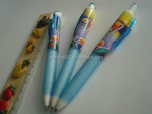 stationery plastic pen school and office pen rainbow gel ink pen