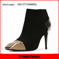 genuine suede and high heel special toe design for custom luxury boots