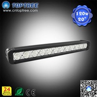 20 inch IP68 120w led bar light single row offroad bull bar led light bar with flood spot beam
