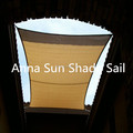 320g/m2 4.2x4.2x6 M/PCS Triangle Sun Shade Sail with UV protection