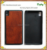 China Factory Custom TPU+Wood case for Sony Xperia Z4 Phone Covers , Plain Universal Phone Cases in natural wood color