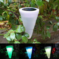 Manufacturer on sale Cone-shape colorful outdoor solar garden light solar wall light for Fence Grape trellis