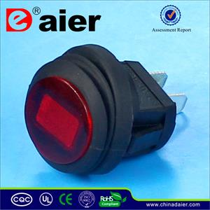 Round spdt rocker switch 12v dc 30a on off waterproof rocker 2 pin