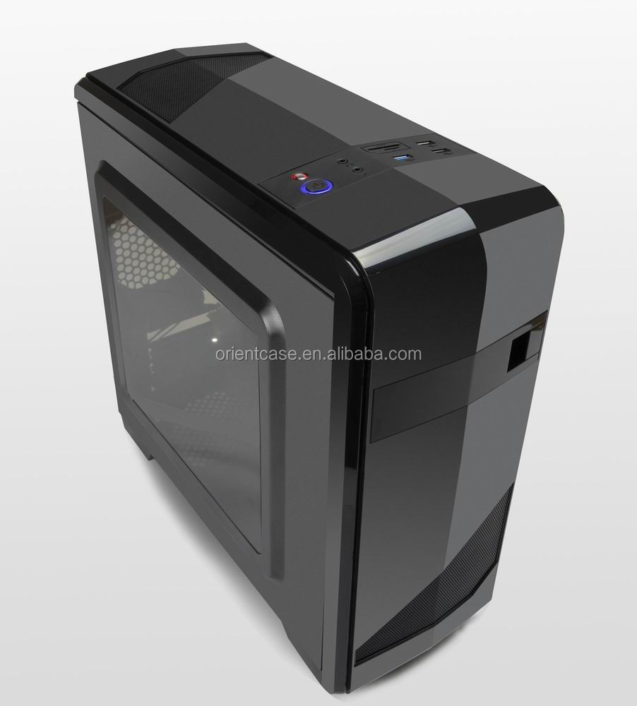 High Glossy Black bezel Micro ATX PC Gaming case