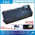 professional LED Mechanical Plunger gaming keyboard