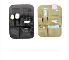 Durable back seat organizer with toy snack holder for baby kids