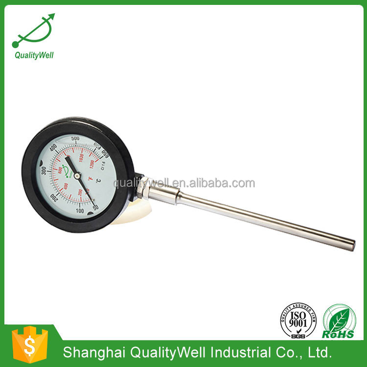 High Quality Stainless Steel Case Marine Adjustable Bimetal Thermometer