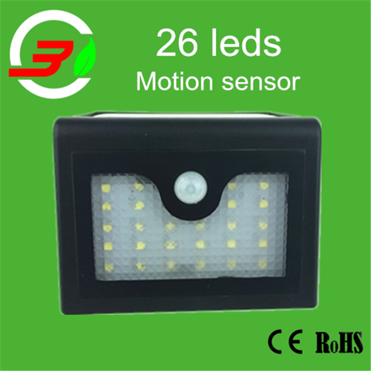 Small scale solar motion detector security light pier