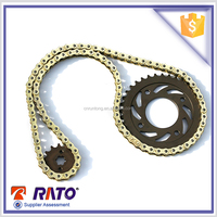 Best selling motorcycle chain and rear sprocket set for 428h