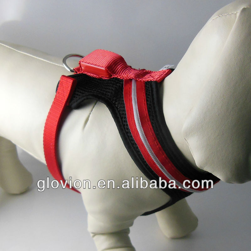 NEW arrival led light up dog harness bling dog harness