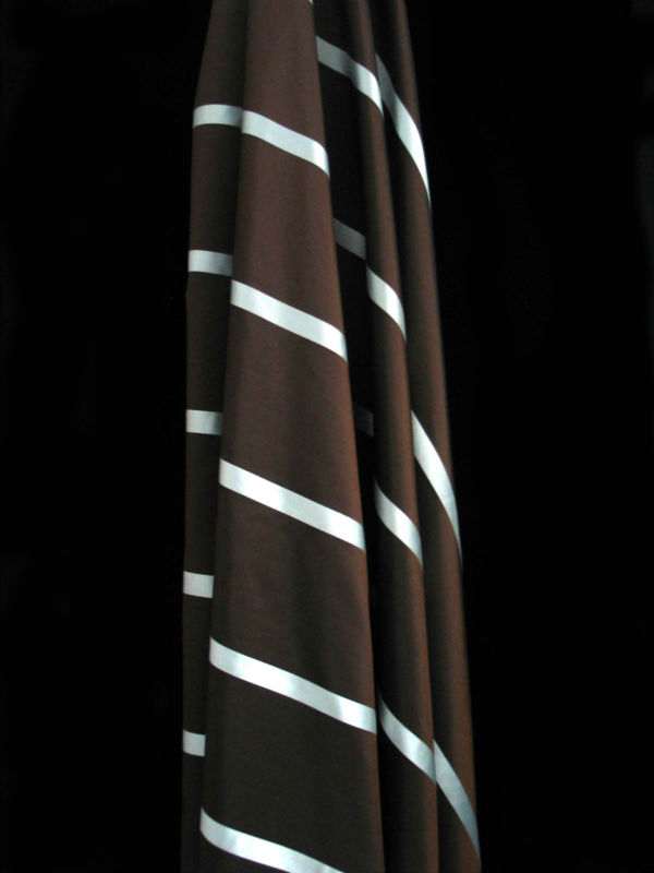 "58/60"" Soft Silky STRIPED TAFFETA Fabric ALL COLORS Sewing Fabrics 100% Polyester"