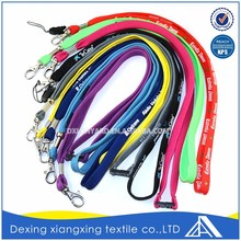 Design Polyester Customized Accessories Multicolorful Keychain Neck Strap Custom
