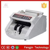Multi currency bill counter with UV MG IR fake note detection cash money counting machine