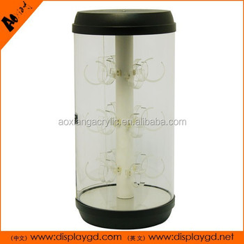 Acrylic display boxes/cabinet display round stand phone holders