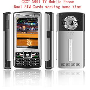 n99i TV Cell Mobile Phone Tri-Band Dual SIM Standby MP3 MP4 FM Unlocked