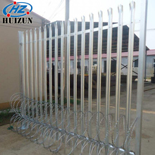 galvanized steel palisade security fence simple gate design