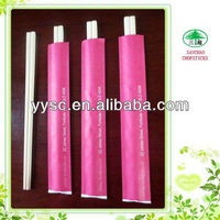 Bamboo Disposable Hashi Chopsticks With Pink