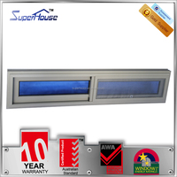 Australia AS2047 standard small double glass thermal break aluminum double sliding windows with flynet