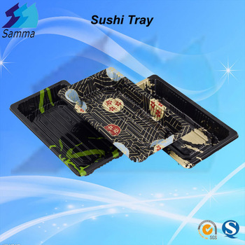 SM1-1109B Sakura Color Long Food Tray for Sushi Fish with different Size