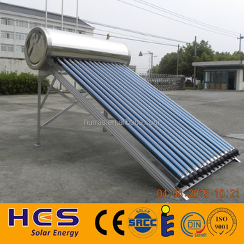 Domestic use easy operation hot water heating solar system