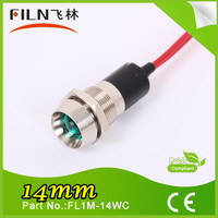 14mm 12v pilot lamp led indicator lamp with wire