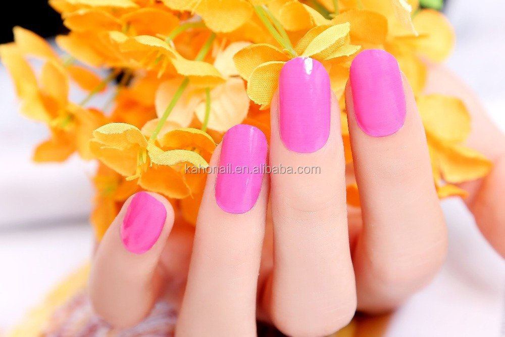 Kaho factory direct price Pink Color Gel Nail Wraps Sticker wholesale