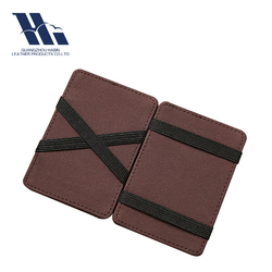 Branded Wholesale Embosed PU Leather Magic Wallet
