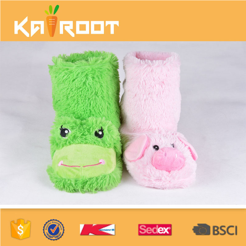 soft cute fur boots kids boots wholesale